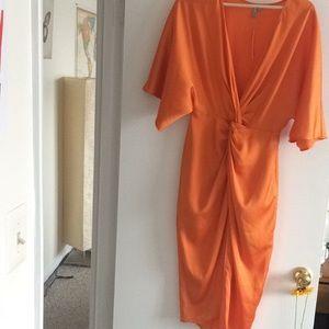 ASOS kimono twist front midi dress NWT size S